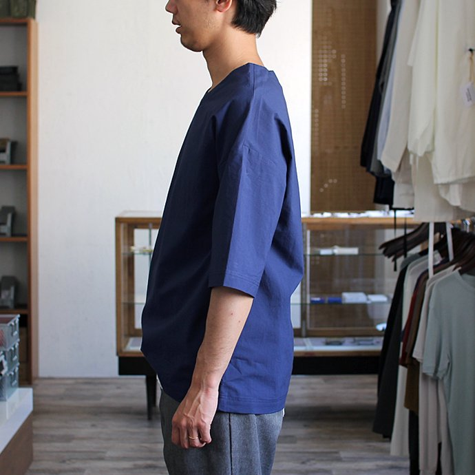 THEE Oversize Tee RN-CS-01 シャツ素材オーバーサイズTシャツ ネイビー<img class='new_mark_img2' src='//img.shop-pro.jp/img/new/icons47.gif' style='border:none;display:inline;margin:0px;padding:0px;width:auto;' /> 02