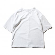 THEE Oversize Kanoko Tee OC-CS-04 鹿の子素材オーバーサイズTシャツ ホワイト<img class='new_mark_img2' src='//img.shop-pro.jp/img/new/icons47.gif' style='border:none;display:inline;margin:0px;padding:0px;width:auto;' />