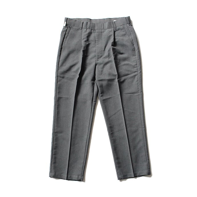 Hexico Deformer 1-Tuck Pants - Ex. U.S. Action Slacks リメイクワンタックスラックス - Charcoal 32 01