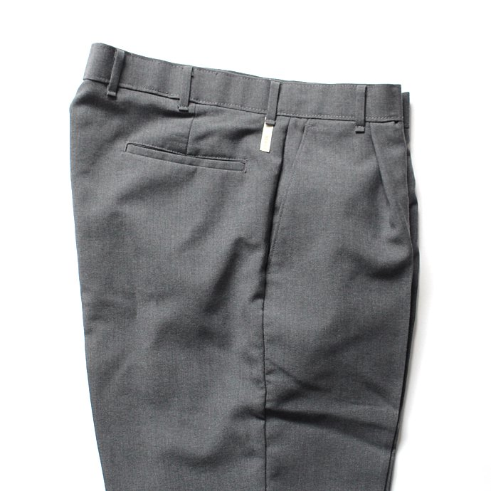 Hexico Deformer 1-Tuck Pants - Ex. U.S. Action Slacks リメイクワンタックスラックス - Charcoal 32 02