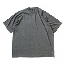 crepuscule / S/S Knit Tee 1703-001 - C.Gray シルク混ハイゲージ半袖ニットT チャコールグレー<img class='new_mark_img2' src='//img.shop-pro.jp/img/new/icons47.gif' style='border:none;display:inline;margin:0px;padding:0px;width:auto;' />