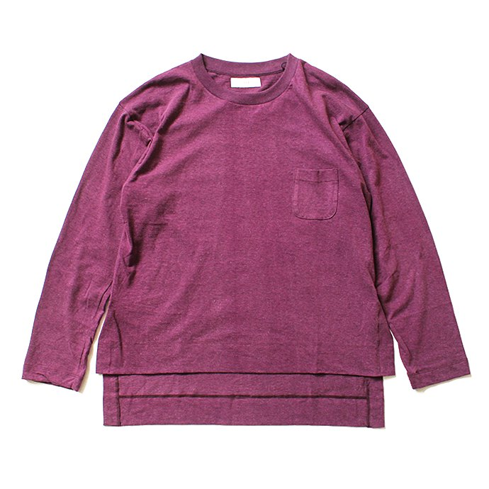 THEE THEE(シー)/ カットソー Slit VC-CS-03 - Burgundy<img class='new_mark_img2' src='//img.shop-pro.jp/img/new/icons20.gif' style='border:none;display:inline;margin:0px;padding:0px;width:auto;' /> 01