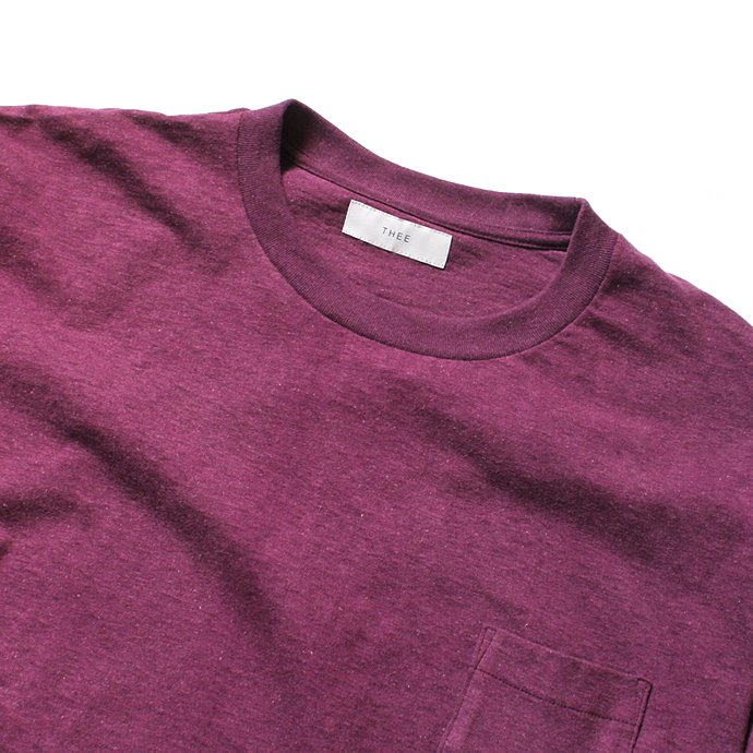 THEE THEE(シー)/ カットソー Slit VC-CS-03 - Burgundy 02