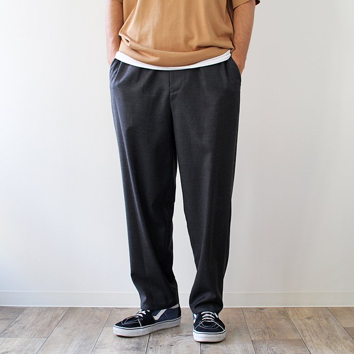 THEE THEE(シー)/ tapered easy slacks テーパード イージースラックス MT-PT-03 - Charcoal 01