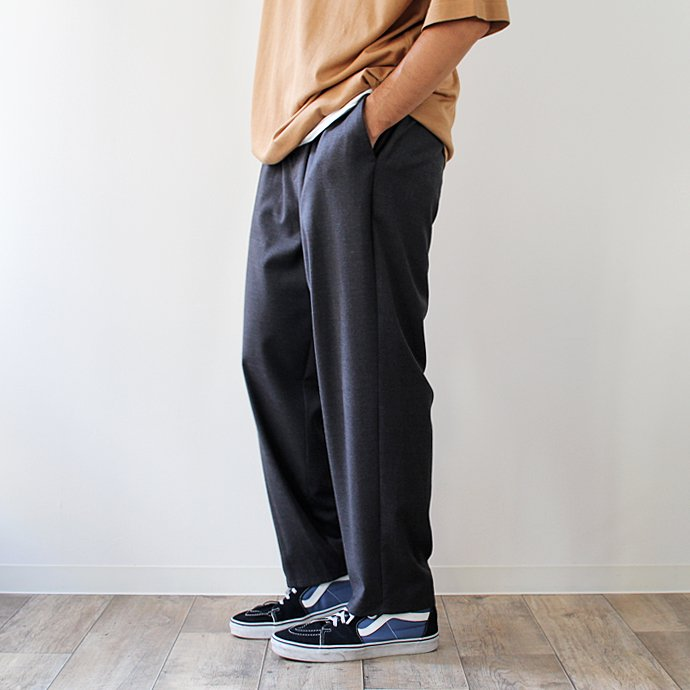 THEE THEE(シー)/ tapered easy slacks テーパード イージースラックス MT-PT-03 - Charcoal 02