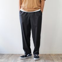 THEE THEE(シー)/ tapered easy slacks テーパード イージースラックス MT-PT-03 - Charcoal