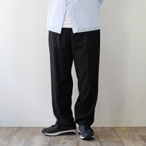 THEE THEE(シー)/ tapered easy slacks テーパード イージースラックス MT-PT-03 - Black