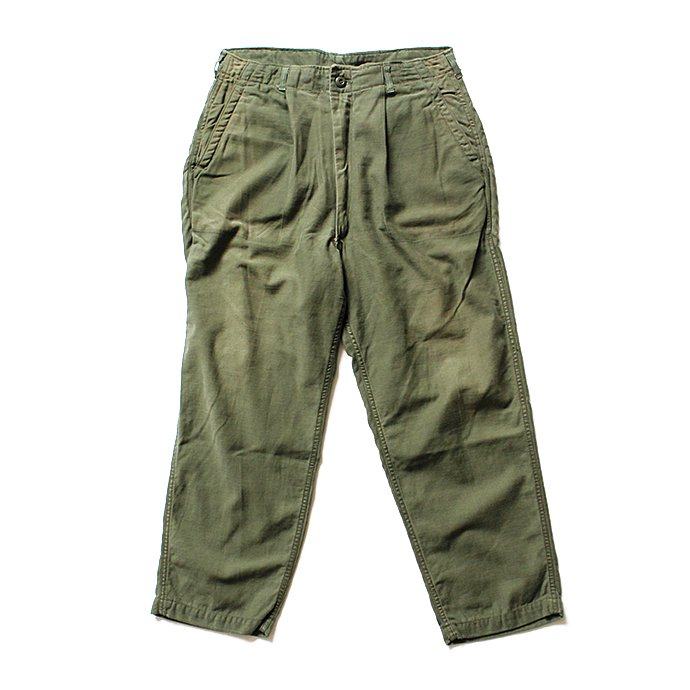 121905876 Hexico / Deformer 1-Tucks U.S. Army 70s Utility Pants リメイクワンタックユーテリティパンツ 03<img class='new_mark_img2' src='//img.shop-pro.jp/img/new/icons47.gif' style='border:none;display:inline;margin:0px;padding:0px;width:auto;' /> 01