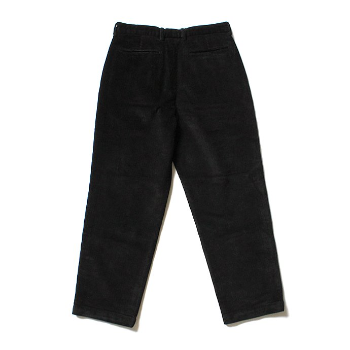122332320 RICCARDO METHA / One Tuck Wide Trousers Corduroy コーデュロイ ワンタック ワイドパンツ - Black<img class='new_mark_img2' src='//img.shop-pro.jp/img/new/icons47.gif' style='border:none;display:inline;margin:0px;padding:0px;width:auto;' /> 02