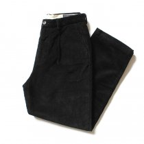RICCARDO METHA One Tuck Wide Trousers Corduroy コーデュロイ ワンタック ワイドパンツ - Black