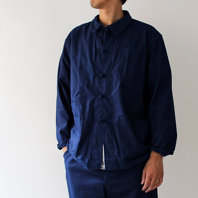 EHS Vintage デッドストック フレンチ チャイナワークジャケット&パンツ セットアップ - インディゴ<img class='new_mark_img2' src='//img.shop-pro.jp/img/new/icons47.gif' style='border:none;display:inline;margin:0px;padding:0px;width:auto;' /> 02