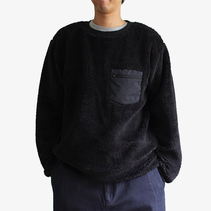 Powderhorn Mountaineering Pile Crew フリース クルーネックプルオーバー - Black