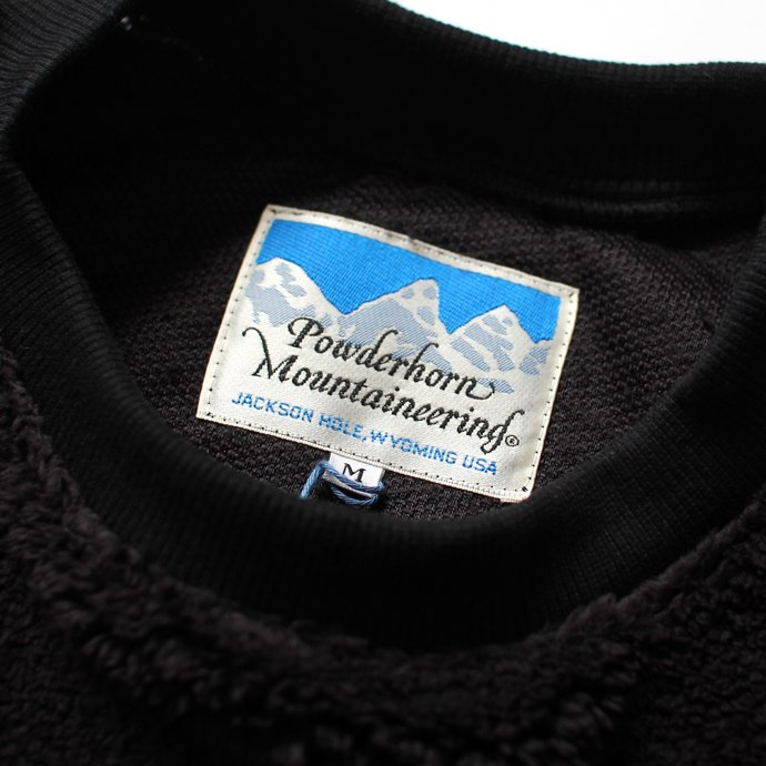 123145040 Powderhorn Mountaineering / Pile Crew フリース クルーネックプルオーバー - Black 02