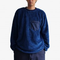 Powderhorn Mountaineering / Pile Crew フリース クルーネックプルオーバー - Blue