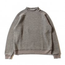 blurhms / BHS-C17FW19 Tweed Fleece Bottle-Neck - C.Grey ツイードフリースボトルネック グレー