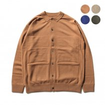 crepuscule / L/S Knit Polo カシミア混ボタンフロントウールニットポロ 1703-008 全4色