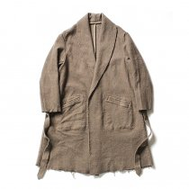 blurhms / BHS-C17FW06 Shrink Cotton-Wool Roll Coat - Grey Beige 圧縮ウール/コットン ガウンコート ベージュ