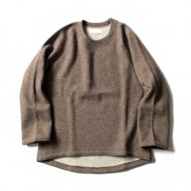 THEE w-face crewneck knit ダブルフェイスクルーネックニット DF-KT-01 Brown<img class='new_mark_img2' src='//img.shop-pro.jp/img/new/icons47.gif' style='border:none;display:inline;margin:0px;padding:0px;width:auto;' />