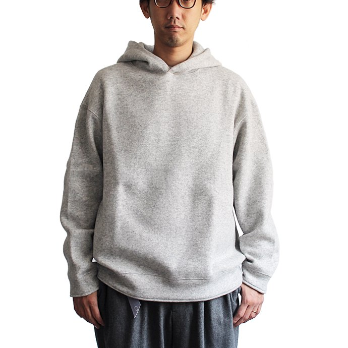 124034898 THEE(シー)/ w-face hoodie knit ダブルフェイスフーディーニット DF-KT-02 Brown 02