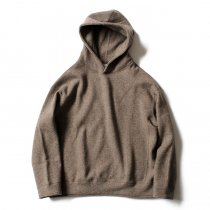 THEE(シー)/ w-face hoodie knit ダブルフェイスフーディーニット DF-KT-02 Brown