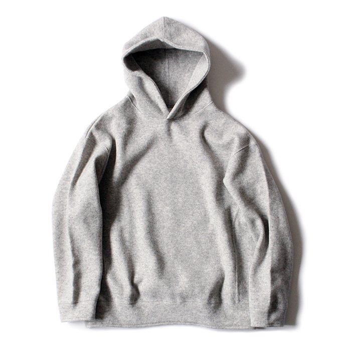 THEE w-face hoodie knit ダブルフェイスフーディーニット DF-KT-02 Gray 01