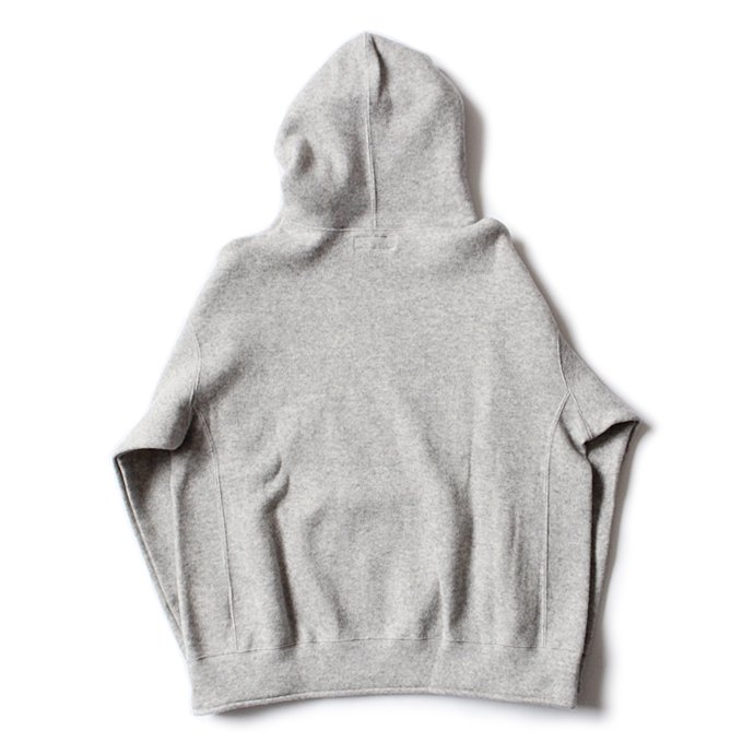 THEE w-face hoodie knit ダブルフェイスフーディーニット DF-KT-02 Gray 02