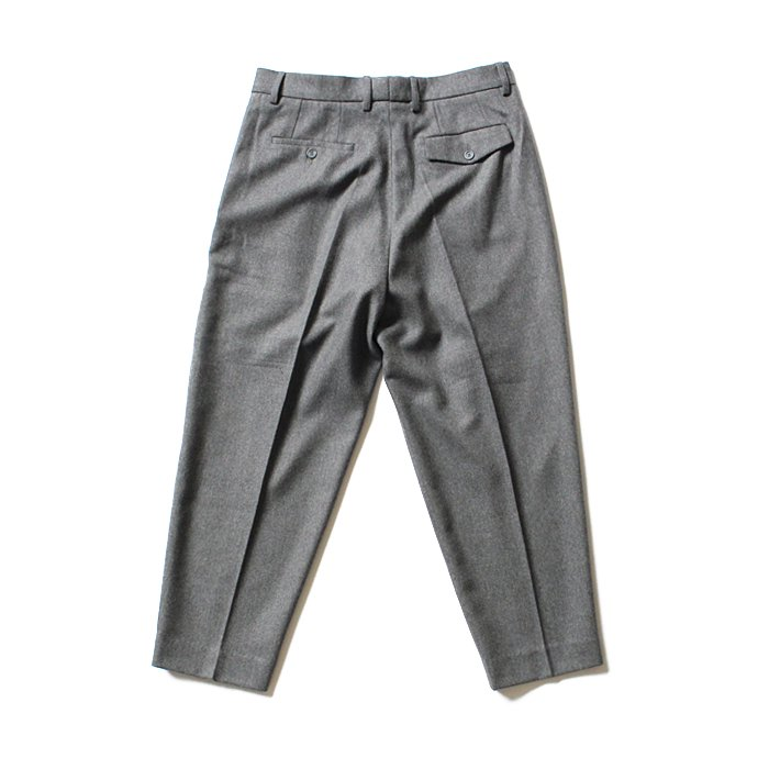 124833507 CEASTERS / 1 Pleat Trousers ワンタックウールパンツ - グレー 02