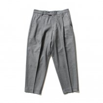 CEASTERS 1 Pleat Trousers ワンタックウールパンツ - グレー