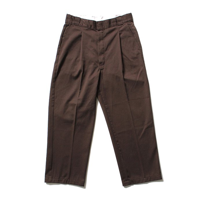 Hexico Deformer Ex. U.S. Dickies リメイクワンタックワークパンツ - ブラウン<img class='new_mark_img2' src='//img.shop-pro.jp/img/new/icons47.gif' style='border:none;display:inline;margin:0px;padding:0px;width:auto;' /> 01