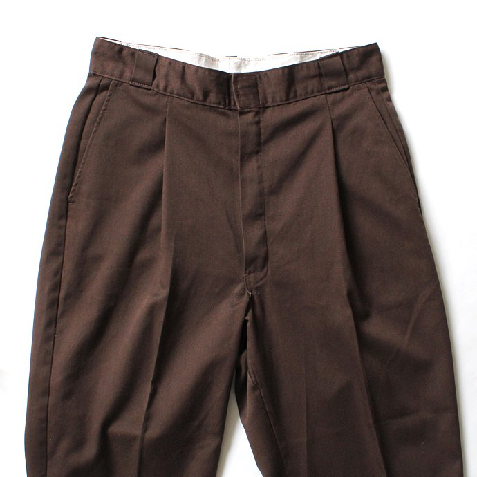 Hexico Deformer Ex. U.S. Dickies リメイクワンタックワークパンツ - ブラウン<img class='new_mark_img2' src='//img.shop-pro.jp/img/new/icons47.gif' style='border:none;display:inline;margin:0px;padding:0px;width:auto;' /> 02