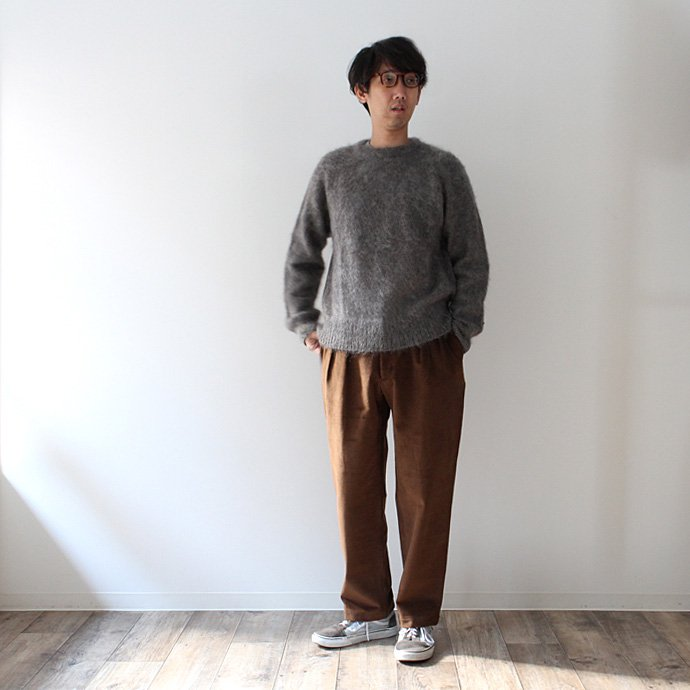 CEASTERS 2 Pleats Corduroy Trousers ツータックコーデュロイパンツ - ブラウン 02