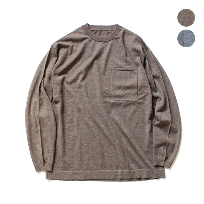 126481213 crepuscule / wool L/S knit tee ウール ロングスリーブ ニットTシャツ 全2色 1704-002<img class='new_mark_img2' src='//img.shop-pro.jp/img/new/icons20.gif' style='border:none;display:inline;margin:0px;padding:0px;width:auto;' /> 01