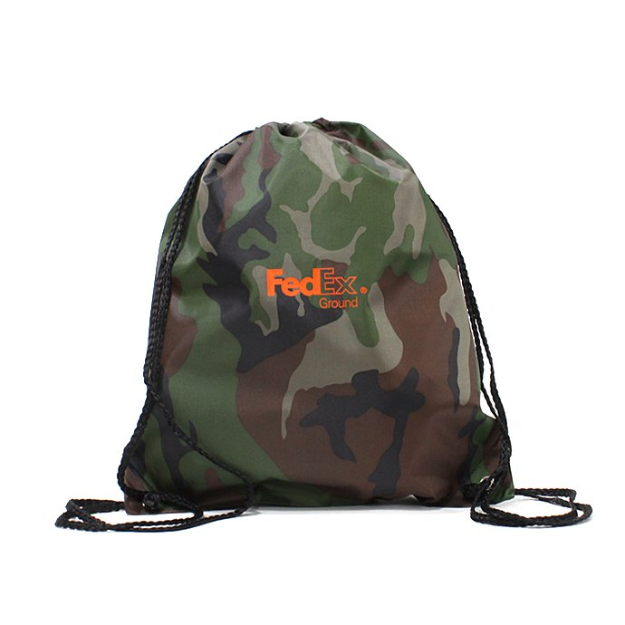 Other Brands FedEx / FedEx Ground Drawstring Pack フェデックス ナップサック - カモ 01