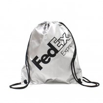 FedEx / FedEx Express Drawstring Pack フェデックス ナップサック - シルバー<img class='new_mark_img2' src='//img.shop-pro.jp/img/new/icons47.gif' style='border:none;display:inline;margin:0px;padding:0px;width:auto;' />