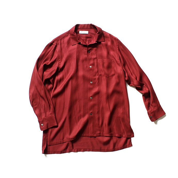 127466625 THEE(シー)/ open collar shirts LR-SH-01 レーヨンオープンカラーシャツ Burgundy<img class='new_mark_img2' src='//img.shop-pro.jp/img/new/icons47.gif' style='border:none;display:inline;margin:0px;padding:0px;width:auto;' /> 01