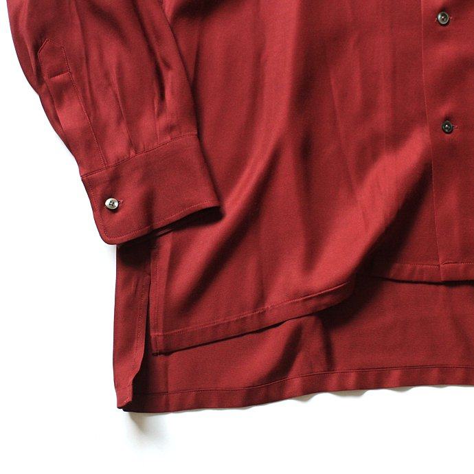 127466625 THEE(シー)/ open collar shirts LR-SH-01 レーヨンオープンカラーシャツ Burgundy<img class='new_mark_img2' src='//img.shop-pro.jp/img/new/icons47.gif' style='border:none;display:inline;margin:0px;padding:0px;width:auto;' /> 02