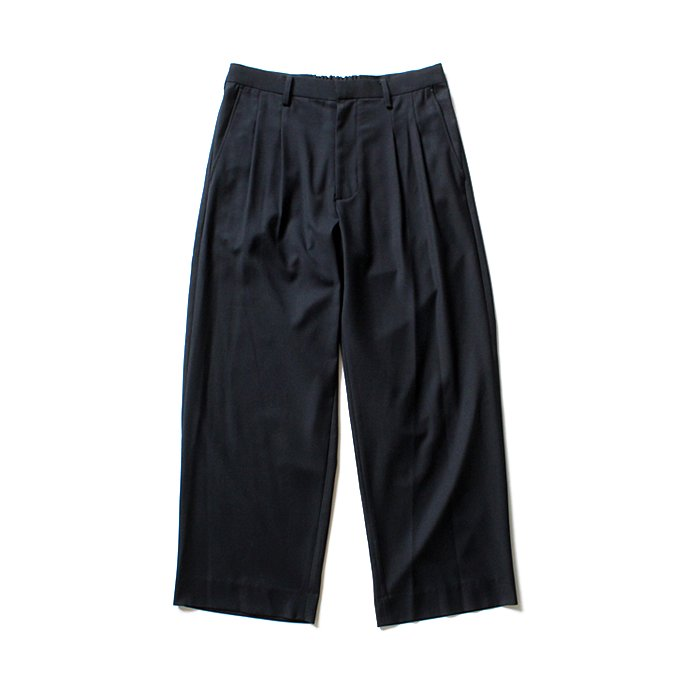 THEE 2tuck wide ツータックワイドパンツ TR-PT-01 Navy SS18<img class='new_mark_img2' src='//img.shop-pro.jp/img/new/icons47.gif' style='border:none;display:inline;margin:0px;padding:0px;width:auto;' /> 02