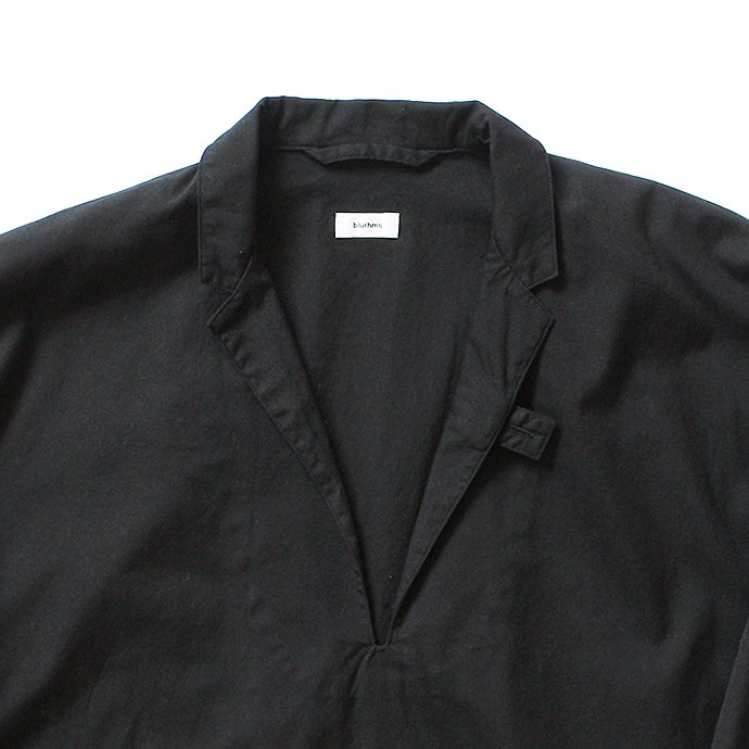 127510664 blurhms / Soft Ox Tailored Pullover Shirt BHS-18SS008 - Black 02