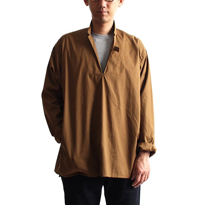 blurhms Soft Ox Tailored Pullover Shirt BHS-18SS008 - Camel 01