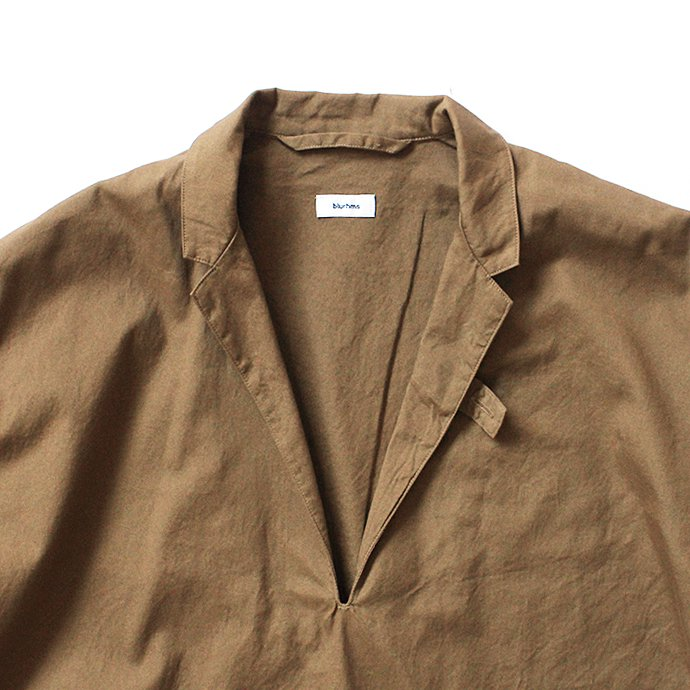 blurhms Soft Ox Tailored Pullover Shirt BHS-18SS008 - Camel 02