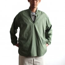 blurhms / Soft Ox Tailored Pullover Shirt BHS-18SS008 - Ash Khaki