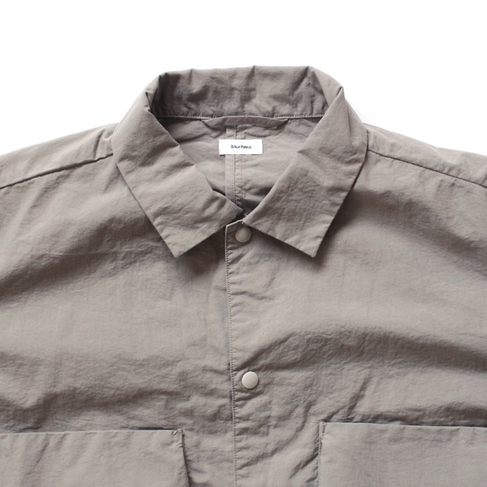 127510842 blurhms / Nylon Utility Shirt Jacket BHS-18SS006 - Grey Beige<img class='new_mark_img2' src='//img.shop-pro.jp/img/new/icons47.gif' style='border:none;display:inline;margin:0px;padding:0px;width:auto;' /> 02