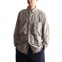 blurhms / Nylon Utility Shirt Jacket BHS-18SS006 - Grey Beige