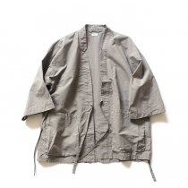 blurhms / Nylon Kendo Jacket BHS-18SS007 - Grey Beige