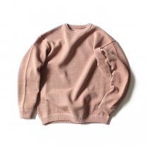 crepuscule / moss stitch L/S sweat 1801-001 Pink 鹿の子編みクルーネック ピンク<img class='new_mark_img2' src='//img.shop-pro.jp/img/new/icons47.gif' style='border:none;display:inline;margin:0px;padding:0px;width:auto;' />