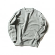crepuscule / moss stitch L/S sweat 1801-001 L.Green 鹿の子編みクルーネック ライトグリーン<img class='new_mark_img2' src='//img.shop-pro.jp/img/new/icons47.gif' style='border:none;display:inline;margin:0px;padding:0px;width:auto;' />