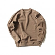crepuscule / moss stitch L/S sweat 1801-001 Brown 鹿の子編みクルーネック ブラウン<img class='new_mark_img2' src='//img.shop-pro.jp/img/new/icons47.gif' style='border:none;display:inline;margin:0px;padding:0px;width:auto;' />