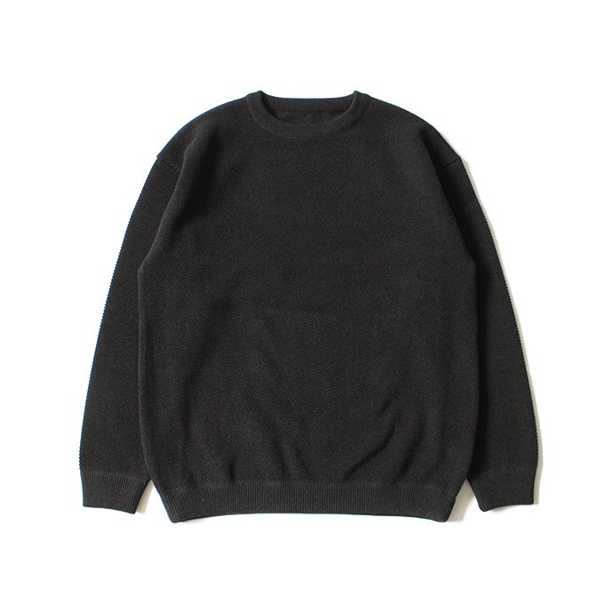 crepuscule moss stitch L/S sweat 1801-001 C.Gray 鹿の子編みクルーネック チャコール<img class='new_mark_img2' src='//img.shop-pro.jp/img/new/icons47.gif' style='border:none;display:inline;margin:0px;padding:0px;width:auto;' /> 02
