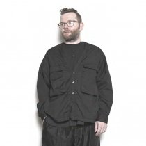 blurhms / Soft Ox Utility Collarless Jacket BHS-18SS014 - Black
