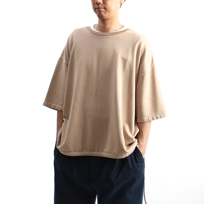 blurhms French Terry Huge Tee BHS-18SS021 - Beige 01
